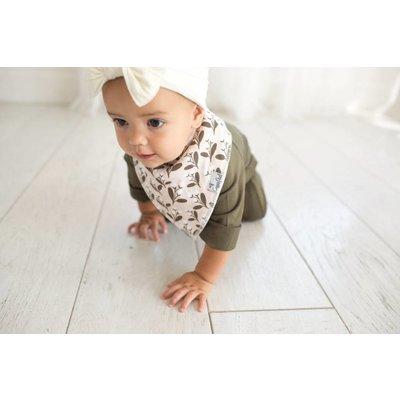 Copper Pearl baby bandana bibs - olive