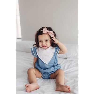 Copper Pearl baby bandana bibs - lola