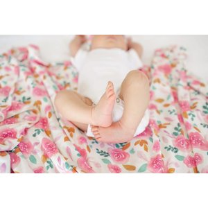 Copper Pearl knit swaddle blanket - siena