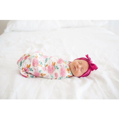 Copper Pearl knit swaddle blanket - siena