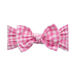 Baby Bling PRINTED KNOT: pink check