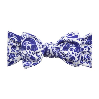 Baby Bling PRINTED KNOT: swiss toille