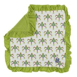 Kickee Pants Print Ruffle Bamboo Lovey (Natural Piñata - One Size)