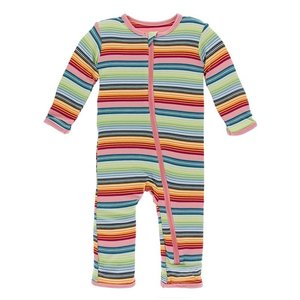 70d448e6df573f Kickee Pants Print Coverall with Zipper (Cancun Strawberry Stripe)