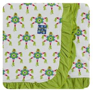 Kickee Pants Print Ruffle Stroller Blanket (Natural Piñata - One Size)