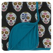 Kickee Pants Print Stroller Blanket (Dia de los Muertos - One Size)