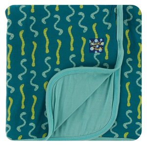 Kickee Pants Print Stroller Blanket (Oasis Worms - One Size)