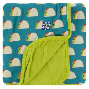 Kickee Pants Print Stroller Blanket (Seagrass Tacos - One Size)