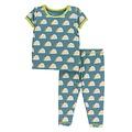 Kickee Pants Print Short Sleeve Pajama Set (Seagrass Tacos)