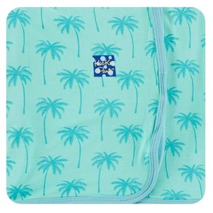 Kickee Pants Print Swaddling Blanket (Glass Palm Trees - One Size)