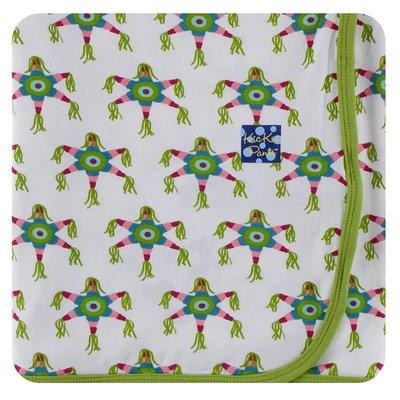 Kickee Pants Print Swaddling Blanket (Natural Piñata - One Size)