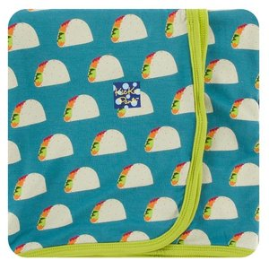 Kickee Pants Print Swaddling Blanket (Seagrass Tacos - One Size)