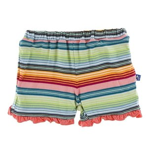 Kickee Pants Print Ruffle Short (Cancun Strawberry Stripe)
