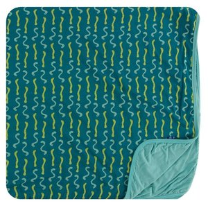 Kickee Pants Print Toddler Blanket (Oasis Worms - One Size)