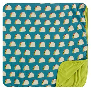 Kickee Pants Print Toddler Blanket (Seagrass Tacos - One Size)