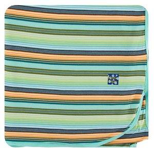 Kickee Pants Print Throw Blanket (Cancun Glass Stripe - One Size)