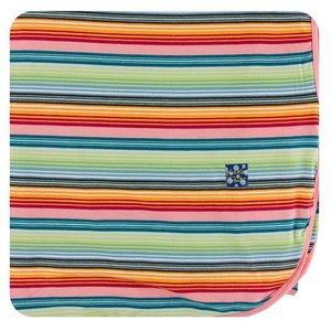Kickee Pants Print Throw Blanket (Cancun Strawberry Stripe - One Size)