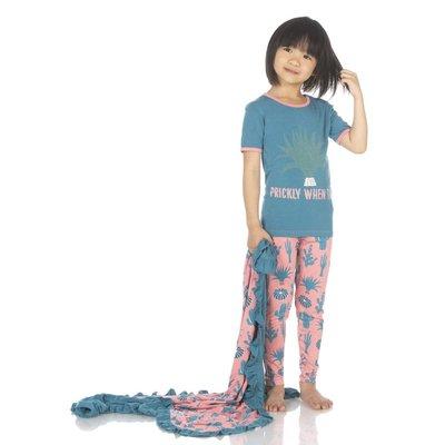 Kickee Pants Print Short Sleeve Pajama Set (Strawberry Cactus)