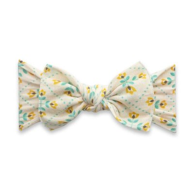Baby Bling PRINTED KNOT: yellow tulips