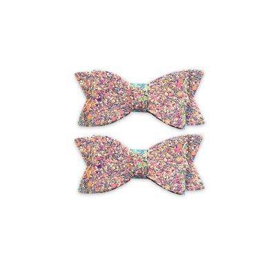 Baby Bling 2PK NOVELTY CLIPS: multi confetti