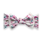 Baby Bling TRIMMED PRINTED KNOT: flamingo floral