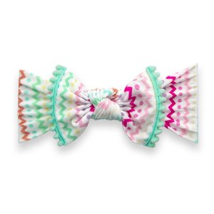Baby Bling Trimmed Printed Knot: easter stripes