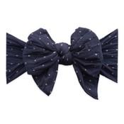 Dang Enormous Bow: navy dot