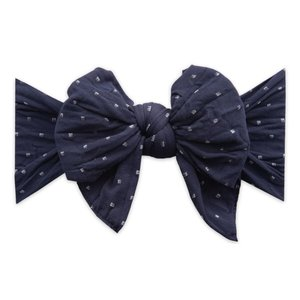 Baby Bling Dang Enormous Bow: navy dot