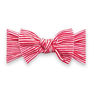 Baby Bling Printed Knot: red painted stripe