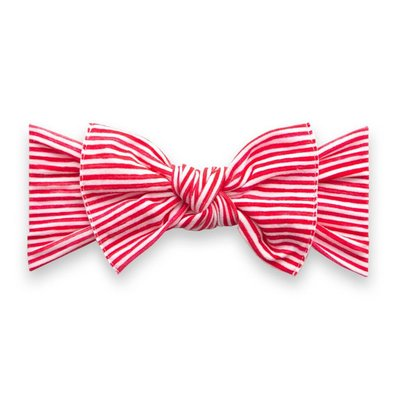 Printed Knot: red painted stripe