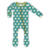 Kickee Pants Print Footie with Zipper (Seagrass Tacos)