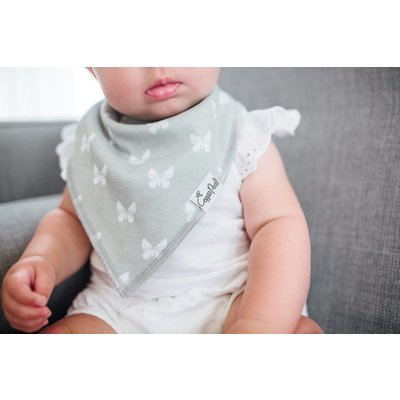 Copper Pearl baby bandana bibs - willow