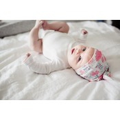 Copper Pearl newborn top knot hat - june