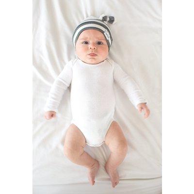 Copper Pearl newborn top knot hat - tribe