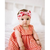 Baby Bling PRINTED KNOT: very berry