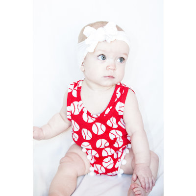 Lincoln&Lexi The Bailey Baseball Romper