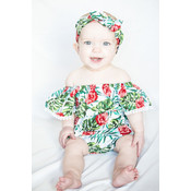 Lincoln&Lexi The Hallie Hawaiian Romper & Headband Set