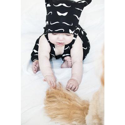 Lincoln&Lexi Mustache Romper & Hat Set