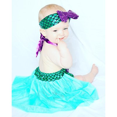 Lincoln&Lexi The Little Mermaid  Romper