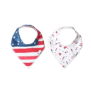 Copper Pearl baby bandana bibs - patriot