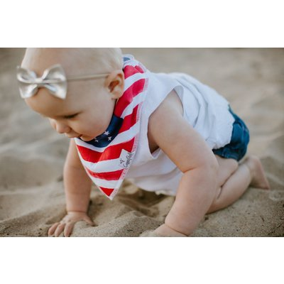 Copper Pearl baby bandana bibs - patriot