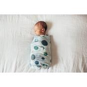 Copper Pearl knit swaddle blanket - lunar
