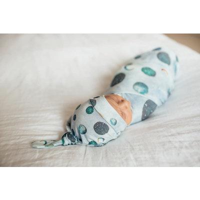 Copper Pearl newborn top knot hat - lunar