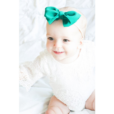 Lincoln&Lexi The Bentley Nylon Waffle Bow Headband
