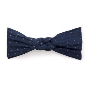 Baby Bling Sailor Knot (Navy Dot)