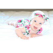 Lincoln&Lexi The Fiona Floral Romper & Headband Set