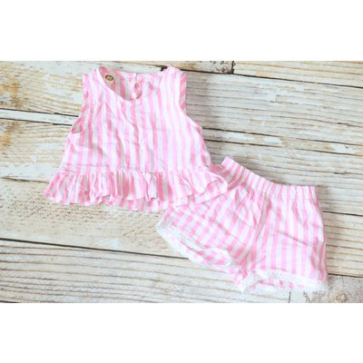 Lincoln&Lexi The Penny Pink Pinstripe Set