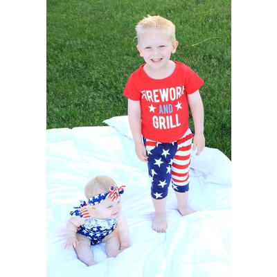 Lincoln&Lexi Fireworks & Grill Piece Set
