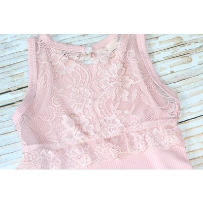 Lincoln&Lexi The Bianca Lace Onesie