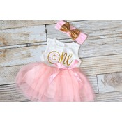 Lincoln&Lexi Donut Grow Up Dress & Headband Set
